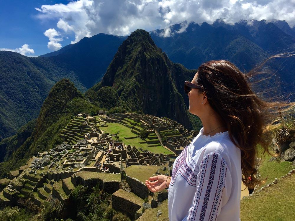 Vanessa en Machu Pichu